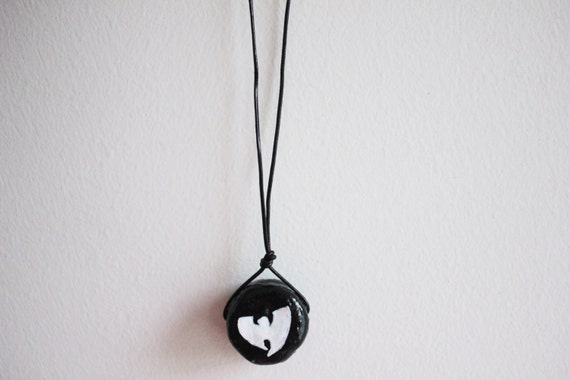 the wu wu tang clan hip hop necklace by kltartbykendro on etsy