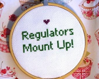 Regulators Mount Up Small Cross Stitch