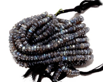 Quartz Crystal Labradorite Beads Mystic Coated Microfaceted Rondelles 12mm Beads, 28 Pieces Approx, 8 Inch Strand