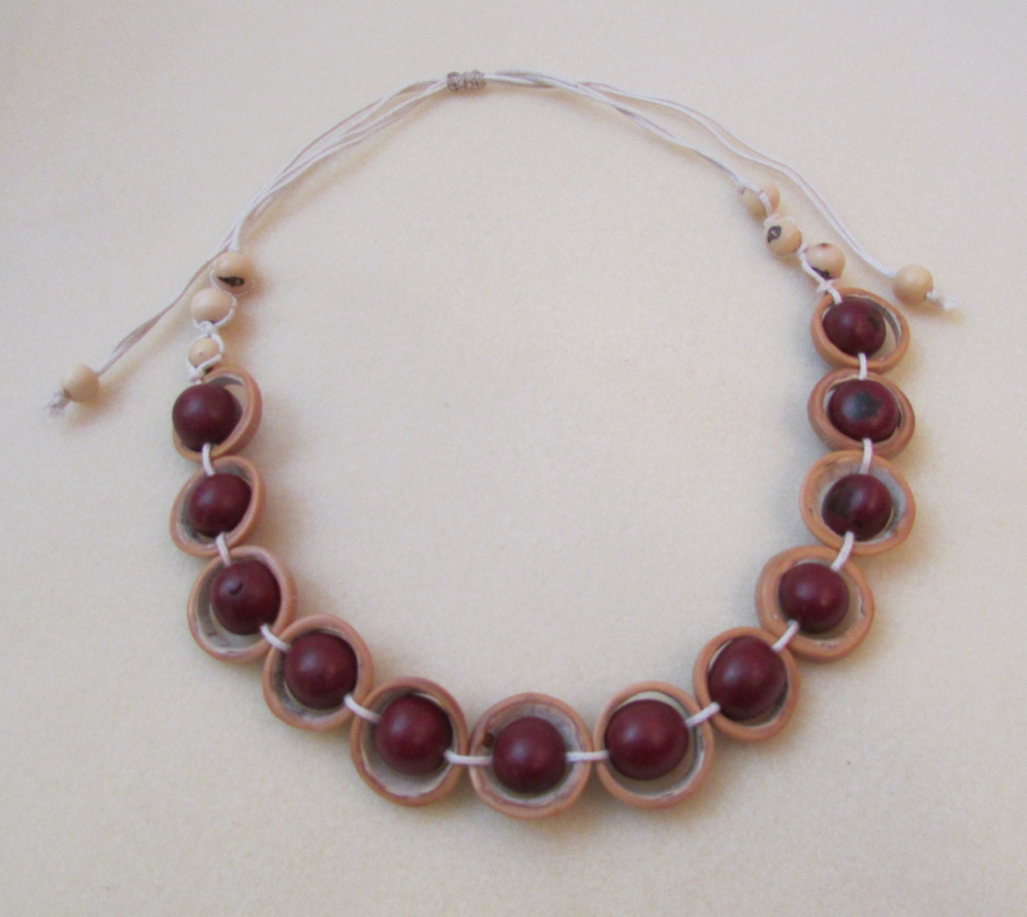 Natural seeds necklace eco friendly jewelry nut necklace for Natural seeds for jewelry making