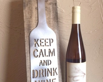 Keep Calm Drink Wine Wall Art