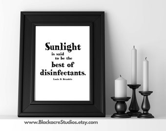 Lawyer Art - Attorney Gift - Law School Gift - Law Student - Sunlight Legal Quote - Law Office Art - Law School - Poster - Gift Ideas
