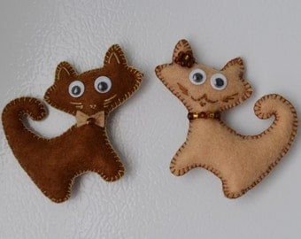 magnetic toys from felt, cats, home decor, game