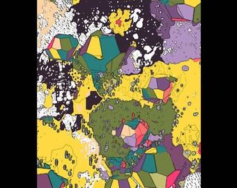 A3 Art Print -  Multi Scape 1 by Mongrel Illustration & Design