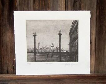 San Marco Piazza di San Marco etching
