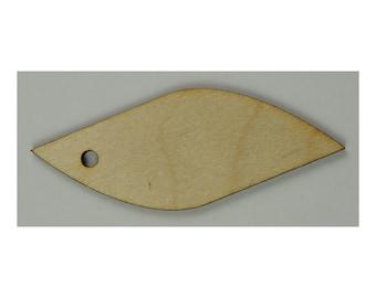 10 Leaf Blank Wood Tags
