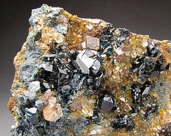 Deep Blue Lazulite Crystals, Yukon, Canada