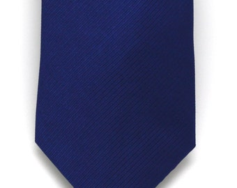 Mens Navy Silk Tie