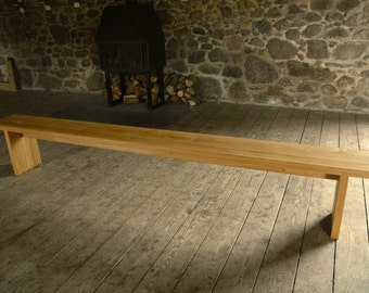 Contemporary Oak Bench 5ft