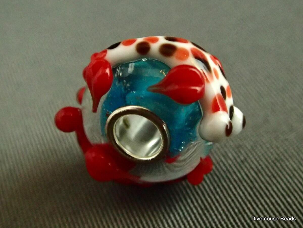 Glass koi charm bracelet bead european style goldfish fish for Koi fish beads