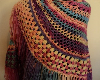 Cheerful Lagniappe Shawl * Ready to ship *