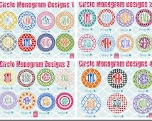Long Sleeve monogrammed shirt - Circle Monogrammed shirt - Custom monogram shirt - personalized shirt - monogram shirt - pink monogram shirt