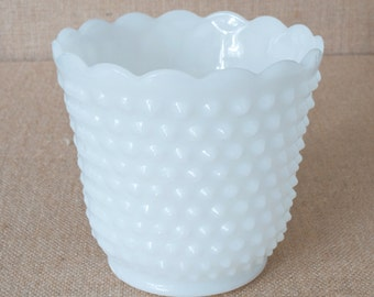 Vintage Fire King White Planter or Container