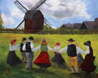 Fine Prison Art PRINTS - Country Landscape Acrylic Painting - Dutch Art