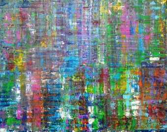 Untitled Abstract #1 Original Acrylic 24 X 30 Painting Colorful