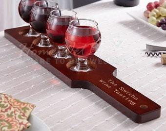 Mission Personalized Wine Flight Set Custom Tasting Glasses Gift Set