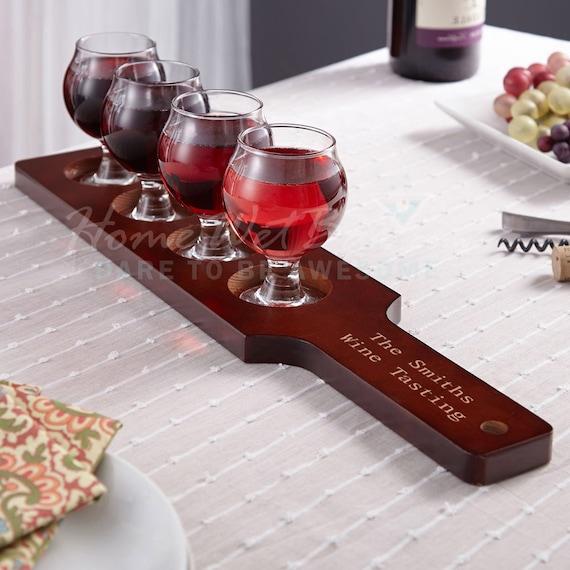 mission personalized wine flight set custom tasting glasses