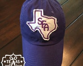 Stephen F. Austin University Inspired Monogram Patch Baseball Hats