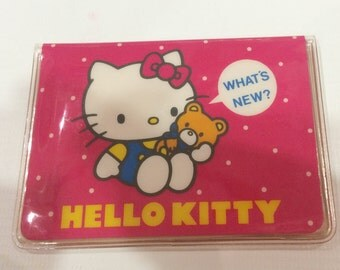 Vintage Hello Kitty card case 1984 Sanrio made in Japan