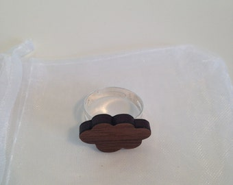 Wooden Cloud Ring