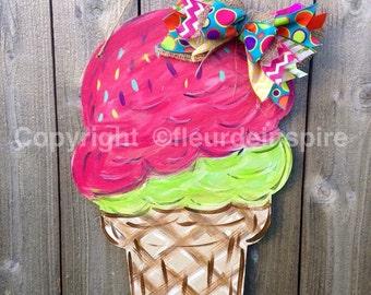 Custom Ice Cream Cone door hanger