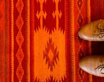 Woolen Rug | Flaming Red