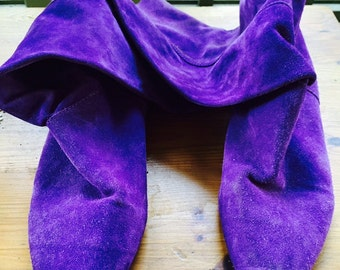 Vintage Purple Suede boots, size 10