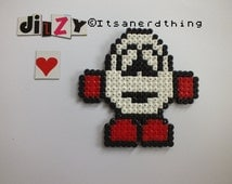 Dizzy Magnet - Made from Hama /Perler beads