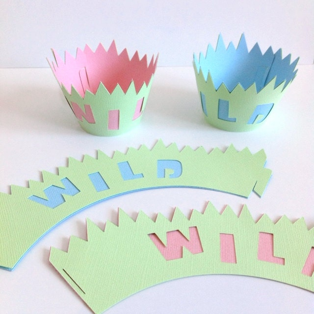 SALE 12 Safari Cupcake Wrappers Jungle Baby Shower