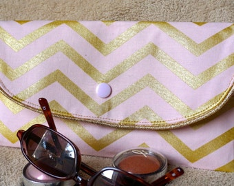Very feminine pouch rafters Golden and Rose Blush