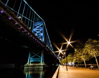 Philadelphia Ben Franklin Bridge and Race Street Pier