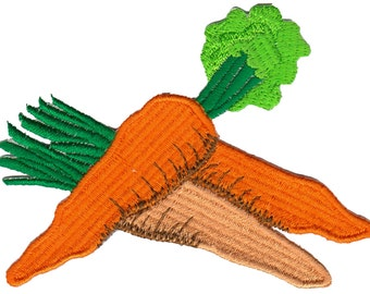 bc51 Carrots Vegetables Iron on patches Embroidery Kids Baby