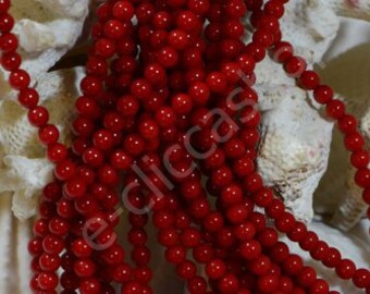 Bamboo CORAL BEADS 5 mm 40 PCs