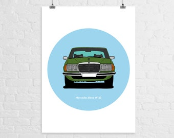 Mercedes Benz W123 A3 Print