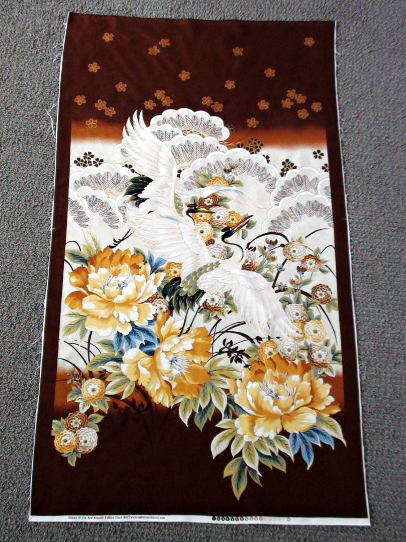 Bird Fabric Panel Crane Fabric Panel Bird