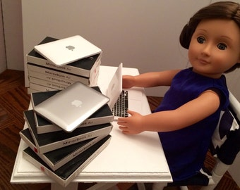 "Laptop for the American Girl 18"" Doll. A faux Apple MacBook Pro computer!"