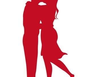 ID: SP00012; Couple in love Vinyl Decal, Sticker