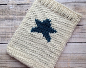 Tablet cosy sleeve sock with star