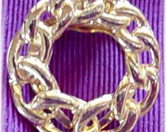 Chain Style Gold  Round Scarf Clip