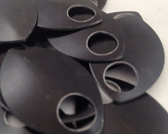 Large Black Scales- Anodized Aluminum (50 or 100 count bags)