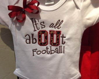 It's all about OU romper, Oklahoma Sooners, Oklahoma, Sooners, football