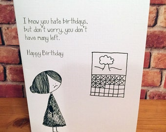 Funny, Mean Birthday Card.