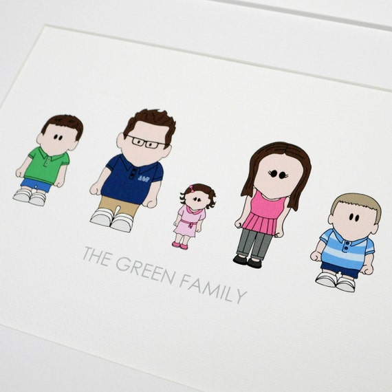 Personalised Family Caricature Print