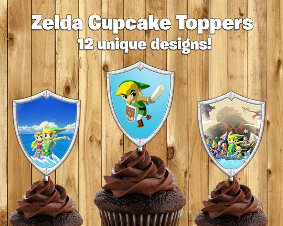 Printable Legend Of Zelda Cupcake Toppers By Instabirthday