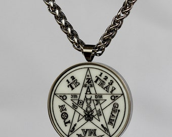 TETRAGRAMMATON TALISMAN amulet wicca high quality stainless steel with chain