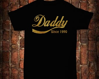 Black Daddy since T-shirt with Gold foil lettering