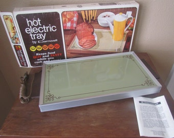 1974 Hot Electric Warming Tray by Cornwall