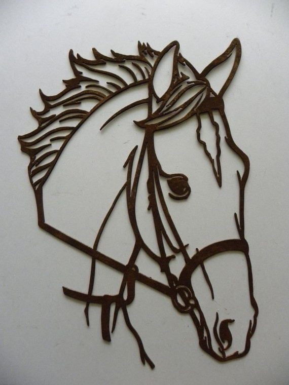 Horse Head Dxf File For Your Cnc Laser Plasma Cutter Or