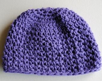 Crochet Beanie, Lavender