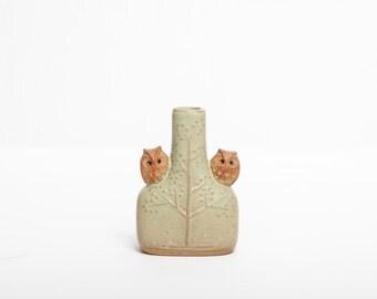 Tiny Owl Bud Vase